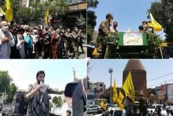 شهید مدافع حرم «قاسم ابراهیمی» در ورامین تشییع و خاکسپاری شد