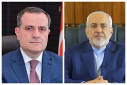 Iranian, Azeri FMs discuss latest developments in Karabakh