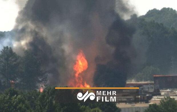 امریکہ میں کیمیائی فیکٹری میں خوفناک آگ لگ گئی