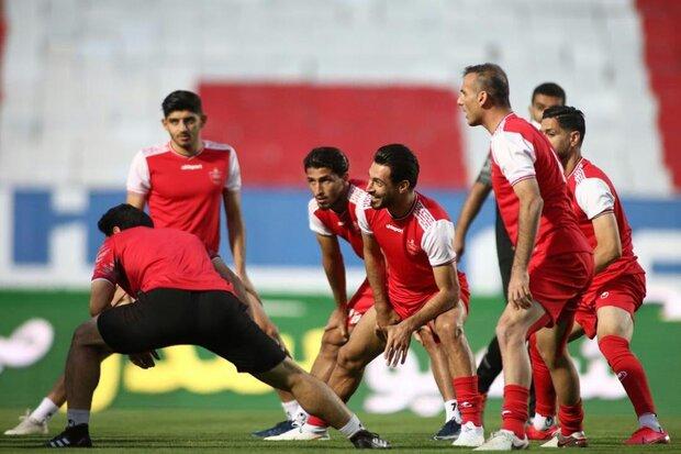 بازگشت ترابی به تمرین گروهی پرسپولیس و تذکر گلمحمدی به بازیکنان