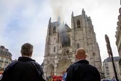 آتشسوزی در کلیسای جامع «نانت» فرانسه
