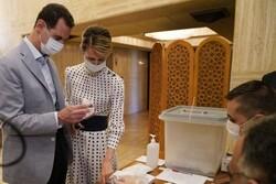 «بشار اسد» رأی خود در انتخابات پارلمانی سوریه را به صندوق انداخت