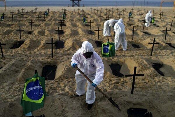 فاجعه در برزیل؛ آمار روزانه قربانیان کرونا از ۴۰۰۰ نفر فراتر رفت