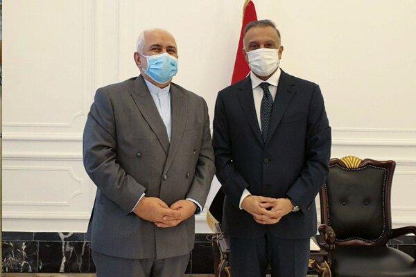 Iran's Zarif, Iraq's Al-Kadhimi hold meeting in Baghdad