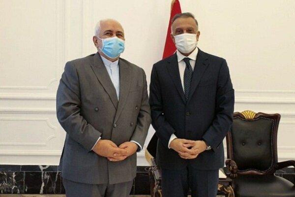 ایرانی وزیر خارجہ کی بغداد میں عراقی وزیر اعظم سے ملاقات