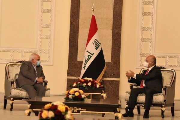 FM Zarif, Iraqi President discuss regional, intl. issues