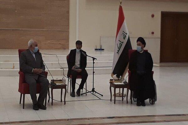 Zarif, Hakim hold meeting in Baghdad