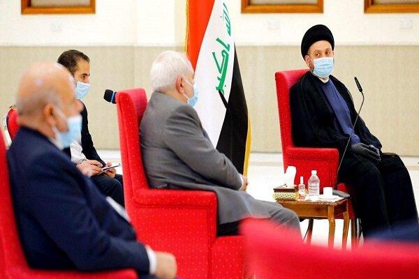 """ما الذي بحثه """"ظريف"""" في بغداد؛ قبل يومين فقط من زيارة """"الكاظمي"""" الى طهران؟!"""