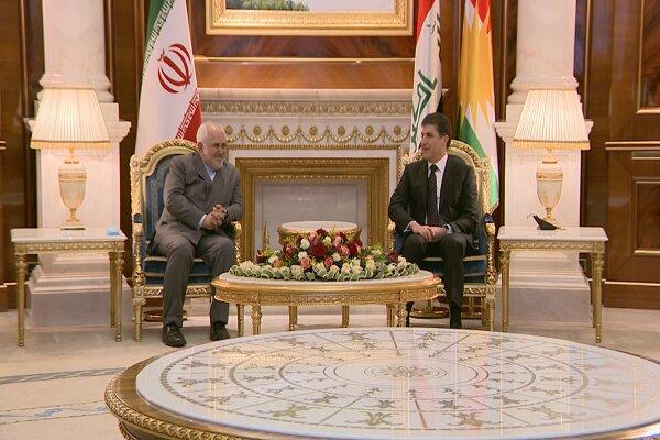 ظريف يجري جولتين من المحادثات مع رئيس اقليم كردستان العراق
