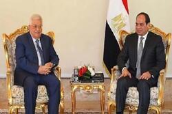 «محمود عباس» و«عبدالفتاح السیسی» درباره مسأله فلسطین رایزنی کردند