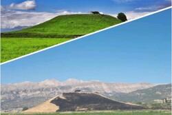 تپه باستانی تل خسرو در شهرستان بویراحمد دچار حریق شد