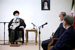 إستقبال قائد الثورة الإسلامية للرئيس العراقي مصطفى الكاظمي / صور