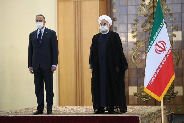 روحاني يستقبل رئيس الوزراء العراقي رسميا