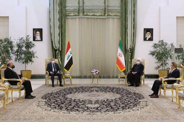 الرئيس روحاني يبحث مع نظيره العراقي سبل تطوير العلاقات المشتركة