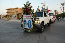 رزمایش وحدت یادمان شهدای مدافع سلامت استان بوشهر برگزار شد