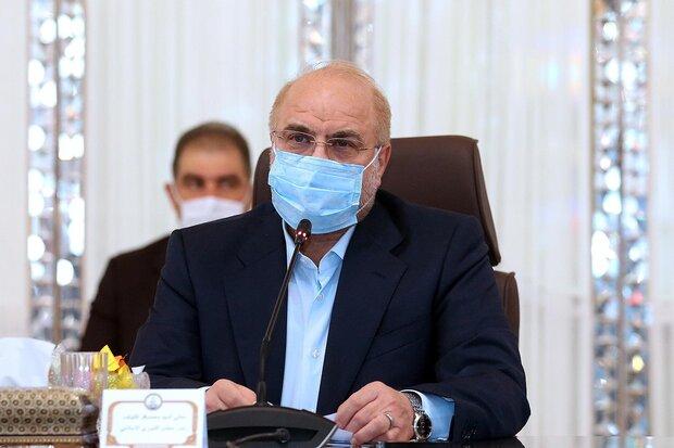 Galibaf'tan İslam ülkeleri meclis başkanlarına kutlama mesajı