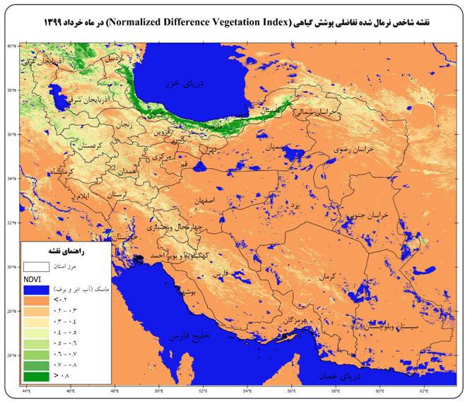 3505775 - تنش آبی پوشش گیاهی کشور کاهش یافت/ وضعیت سبزینگی در سطح کشور