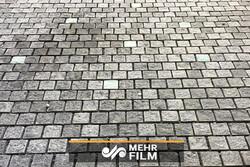 طریقه ساخت نوعی سنگ فرش خیابانی