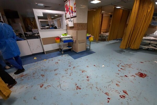 حمله اراذل و اوباش به مرکز اورژانس بیمارستان باقرالعلوم اهر