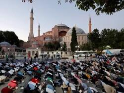 ترکی میں آیا صوفیہ میں 86 برس بعد نماز جمعہ ادا کی گئی