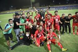 جشن قهرمانی تیم فوتبال پرسپولیس در مسجد سلیمان