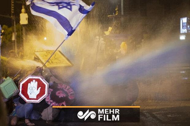 اسرائیلی وزیر اعظم کے خلاف مظاہرے جاری