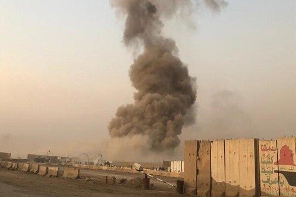 """انفجاران يهزان """"معسكر الصقر"""" جنوبي بغداد/ مسيرة امريكية قد تكون وراء الانفجارين"""