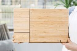 تخته برش هوشمند مواد غذایی را وزن می کند