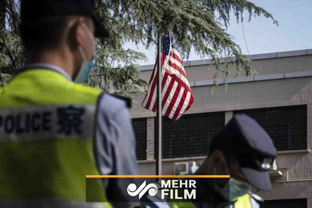 VIDEO: Flag lowered at US consulate in Chengdu