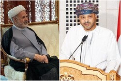 Outgoing Iranian envoy bids farewell to Omani FM official