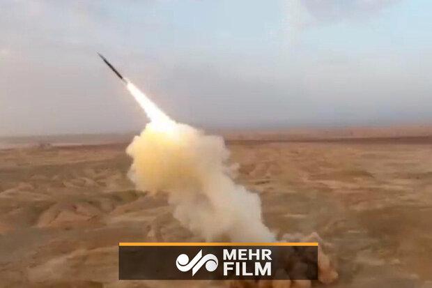 İran yapımı balistik füze yerin derinliğinden böyle ateşlendi