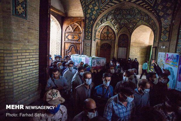 تشییع پیکر شهید محمدعلیخانی در قزوین