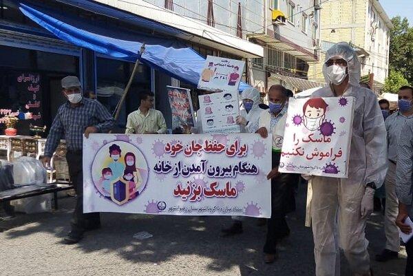 کاروان بهداشت در بازار هفتگی رضوانشهر به حرکت درآمد
