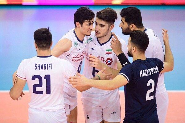 Iran U21 volleyball defeats Cuba U19