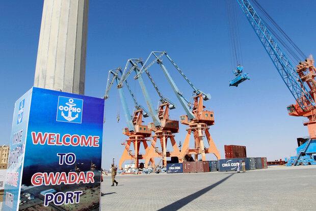 آغاز ترانزیت کالا از بندر پاکستان در اتصال به پروژه کمربند چین