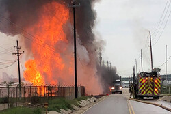وقوع انفجار مهیب در تاسیسات گاز طبیعی تگزاس آمریکا