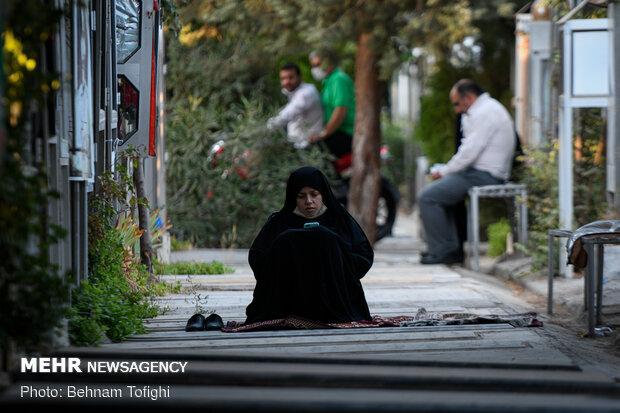 مراسم دعای عرفه در گلزار شهدای تهران