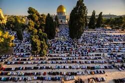 مسجد الاقصی میں نماز عید سعید قربان ادا کی گئي