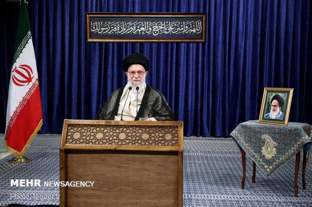 سخنرانی تلویزیونی رهبر انقلاب به مناسبت عید سعید قربان