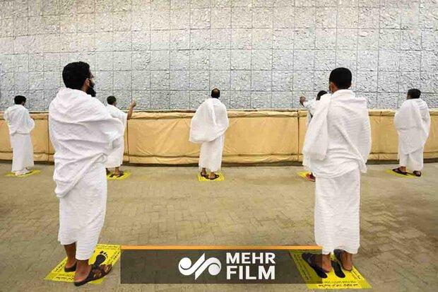 تصاویری از مراسم رمی جمرات حجاج عربستانی