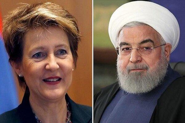 روحاني: نثق بالمزيد من التعاون مع سويسرا علي أساس الاحترام المتبادل