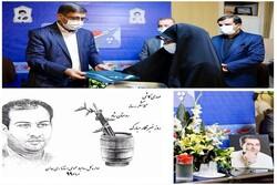 لوح یادبود روز خبرنگار به خانواده مرحوم «مهدی کاشی» اهدا شد