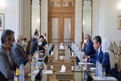 ظريف يستقبل رئيس لجنة العلاقات الخارجية بمجلس الدوما الروسي