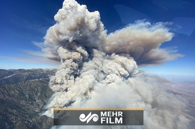VIDEO: Wildfire sweeps southern California