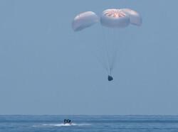 کپسول اسپیس ایکس فضانوردان را به سلامت به زمین رساند
