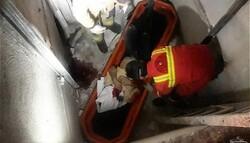سقوط مرگبار کارگر ساختمانی در چاهک آسانسور