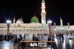مسجد النبی میں باران رحمت