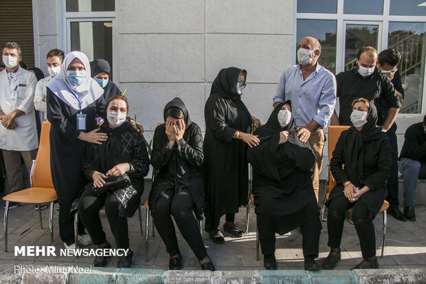 مراسم تشییع شهید مدافع سلامت فرزاد نامی در تبریز