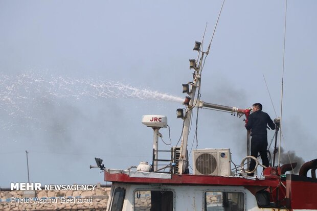 Fire contained at Qeshm port