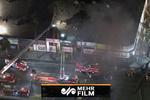 آتشسوزی گسترده در یک بلوک تجاری در محله هالیوود لس آنجلس